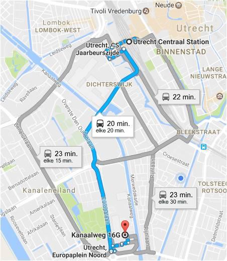 Kaart Scriptiebegeleiding Utrecht